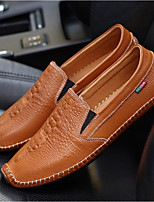 Men's Loafers & Slip-Ons Summer Moccasin Leatherette Casual Flat Heel Blue Brown Black White