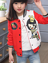 Girls' Casual/Daily Print Suit & Blazer,Cotton Spring Fall Long Sleeve