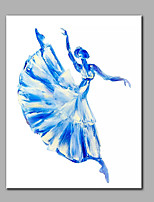 Hand-Painted Modern Panel Canvas Ready To Hang Dancing Girl  Decorative Oil Painting
