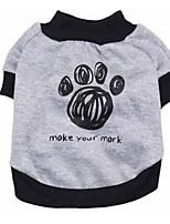 Dog Shirt / T-Shirt Dog Clothes Summer Cartoon Cute Sports Fashion Black