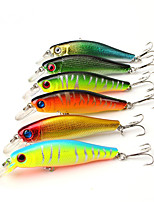 6 pcs Hard Bait Minnow Fishing Lures Hard Bait Minnow Lure Packs Multicolored g/Ounce mm/3-5/16