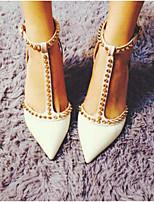 Mulheres sapatos de verão slingback PU casual preto