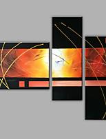 Ручная роспись Абстракция Любая форма,Modern 3 панели Холст Hang-роспись маслом For Украшение дома