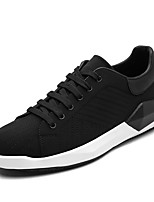 Men's Sneakers Fall Winter Comfort PU Casual Lace-up Black
