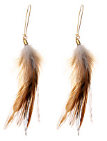 lureme® Drop Earrings Jewelry Natural Friendship Sexy Crossover Multi-ways Wear Africa Feather Alloy Geometric Wings / Feather Jewelry ForParty