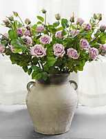 1 Rama Seda Rosas Flor de Mesa Flores Artificiales