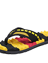 Men's Slippers & Flip-Flops Spring Summer Slingback Comfort Light Soles PU Casual Flat Heel Blue Yellow White