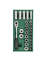 Sata 6 Winkel Hülse 26 Stück 12.5mm 09915 Auto Reparaturwerkzeuge