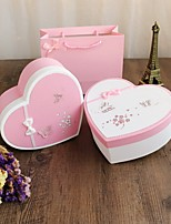 1 Piece/Set Favor Holder-Heart-shaped Card Paper Favor Boxes Candy Jars and Bottles Gift Boxes Non-personalised