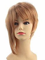 Capless Short Straight Women Blonde Wig Wacky Wig Party Hairstyle For Women