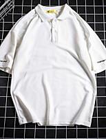 אחיד צווארון חולצה פשוטה יום יומי\קז'ואל Polo נשים שרוול ארוך כותנה