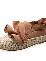 -Для женщин-Повседневный-Ткань-На плоской подошве-Удобная обувь-Мокасины и Свитер