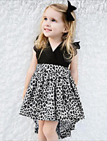 Girl's Going out Casual/Daily Animal Print Patchwork Dress,Rayon Polyester Summer Sleeveless