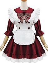 Tenue Doux Lolita Cosplay Vêtrements Lolita Couleur Pleine Manches Courtes Court / Mini Pour
