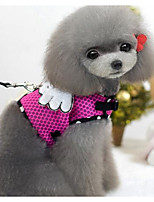 Collar Leash Safety Training Solid PU Leather Harness Pink Blue