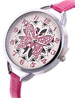 Жен. Модные часы Кварцевый Кожа Группа Черный Красный Коричневый Розовый