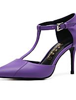 Mujer-Tacón Stiletto-Confort Innovador Zapatos del club-Tacones-Boda Exterior Vestido Informal Fiesta y Noche-Piel de Oveja-Morado Verde