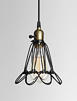 Black Metal Vintage Style Industrial Opening and Closing Hanging Light Pendant Wire Cage Lamp Guard
