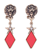 Boucles d'oreille gitane Cristal Original Mode euroaméricains Simple Style Rouge Bijoux Pour Mariage Soirée Anniversaire 1 paire