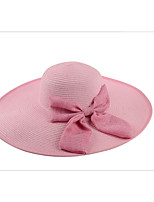 Summer Straw Hat Cap Beautiful Bow Girl&lady Round Wide Brim Hawaii Folding Soft Sun Hat Casual Foldable Brimmed Beach Hats