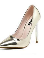 Золотой Серебряный-Для женщин-Повседневный-ПолиуретанУдобная обувь-Сандалии