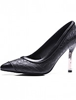 Women's Heels Spring Fall Comfort Leatherette Party & Evening Dress Casual Stiletto Heel Burgundy Black