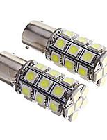 2шт 1156 27 * 5050smd светодиодная лампа для автомобиля белый свет dc12v