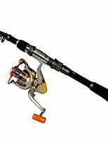Telespin Rod Carp Surf Rod Fishing Rod Spinning Fishing Rod  Reel    Fishing Set Fishing Cobom  Metal Aluminium Spinning Fishing Reel