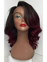 8a ombre cor corpo onda lace front peruca cabelo viril brasileiro glueless lace front perucas de cabelo humano para mulher com cabelo de