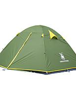 3-4 Personen Zelt Doppel Falt-Zelt Einzimmer Camping Zelt 2000-3000 mm Oxford Feuchtigkeitsundurchlässig Wasserdicht Regendicht Winddicht-