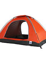 2 Pessoas Tenda Único Tenda Dobrada Um Quarto Barraca de acampamento 1500-2000 mm Oxford Poliéster Tafetá Fibra de VidroÁ Prova de