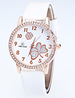 Women's Fashion Watch Wrist watch Quartz Rhinestone Flower Alloy Band Casual