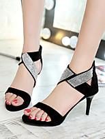 Femme-Habillé Soirée & Evénement-Noir Vert Véronèse-Talon Aiguille-Confort club de Chaussures-Chaussures à Talons-Daim