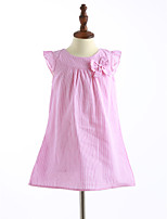 Girl's Casual/Daily Solid Dress,Cotton Summer Sleeveless
