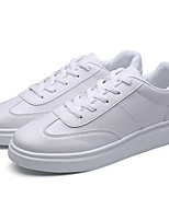 Unisex Sneakers Spring Fall Comfort PU Casual Lace-up White