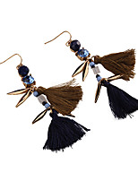 Drop Earrings Jewelry Fashion Gem Alloy Jewelry Blue Red Jewelry For Party Gift Casual 1 pair