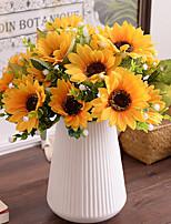 7Bifurcate/ Bouquet Sunflowers Babysbreath Tie-In Bouquet  Artificial Flowers