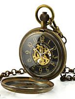 Мужской Часы со скелетом Карманные часы Механические часы Кварцевый С автоподзаводом сплав Группа Бронза
