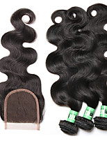 Natural Color Hair Weaves Brazilian Texture Body Wave 18 Months 4 Pieces hair weaves