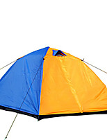 2 человека Световой тент Двойная Автоматический тент Двухкомнатная Палатка 1000-1500 мм Стекловолокно ОксфордВлагонепроницаемый