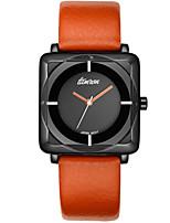 Men's Sport Watch Fashion Watch Quartz Leather Band Blue Red Orange