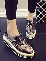 Women's Sneakers Spring Comfort PU Casual Silver Black
