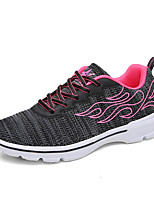 Women's Sneakers Spring Summer Mary Jane Comfort Couple Shoes Tulle Outdoor Athletic Casual Running Flat Heel Lace-up Blushing Pink Black