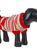 Собаки Свитера Одежда для собак Зима Мультфильмы Мода На каждый день Красный