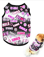 Dog Vest Dog Clothes Summer Solid Cute Fashion Casual/Daily Blushing Pink White