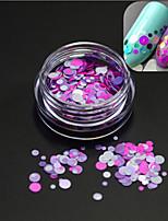 1bottle romantique fashion nail art brillance ronde paillette nail art diy beauté ronde coupe décoration design doux p21