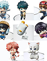 Anime Action Figures Inspired by Gintama Cosplay PVC 5 CM Model Toys Doll Toy 1set
