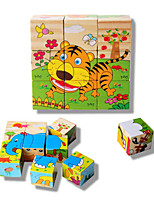 Jigsaw Puzzles 3D Puzzles Building Blocks DIY Toys Square Wood Leisure Hobby