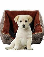 Кошка Собака Кровати Животные Коврики и подушки Мягкий Кофейный