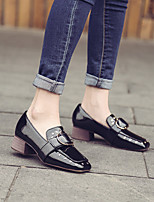 Women's Heels Comfort Synthetic Casual Black Burgundy 1in-1 3/4in